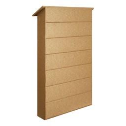 Single-Door Letterboard Outdoor Message Center - Back view