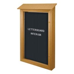 Single-Door Letterboard Outdoor Message Center