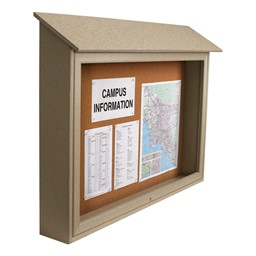 Top-Hinged Single-Door Corkboard Outdoor Message Center
