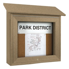 Mini Corkboard Outdoor Message Center