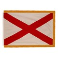 Alabama State Flag w/ Crowned Gold Fringe