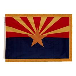 Arizona State Flag w/ Crowned Gold Fringe