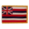 Hawaii State Flag w/ Crowned Gold Fringe