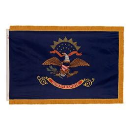 North Dakota State Flag w/ Crowned Gold Fringe