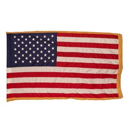 Nylon U.S. Flag w/ Crowned Gold Fringe