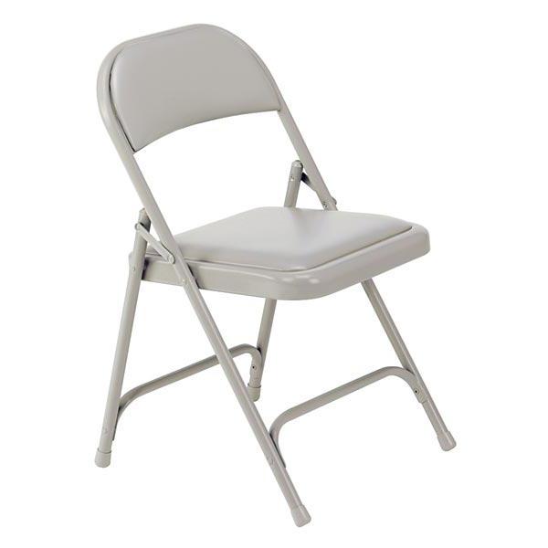 168 Series Vinyl Upholstered Folding Chair   Silver Mist Vinyl W/ Silver  Mist Frame