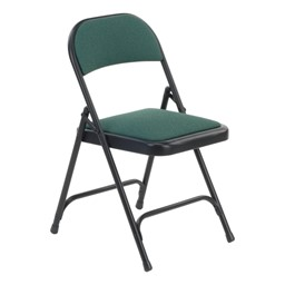 188 Series Fabric-Upholstered Folding Chair - Sedona Loden fabric w/ Black frame