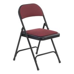 188 Series Fabric-Upholstered Folding Chair - Sedona Ruby fabric w/ Black frame