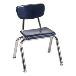 "3000 Series Solid Plastic School Chair - 12"" Seat Height - Navy"