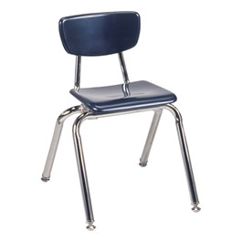 "3000 Series Solid Plastic School Chair - 14"" Seat Height - Navy"