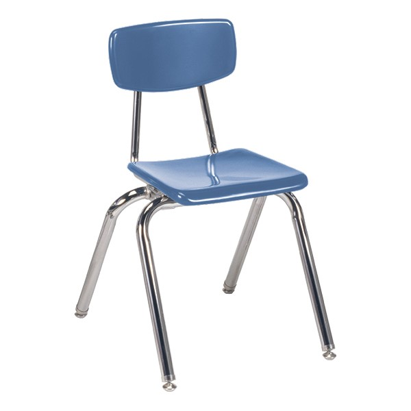 "3000 Series Solid Plastic School Chair - 16"" Seat Height - Blueberry"