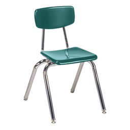 "3000 Series Solid Plastic School Chair - 16"" Seat Height - Forest Green"