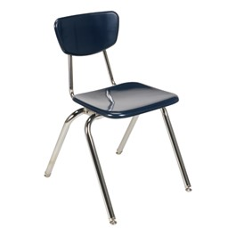 """3000 Series Solid Plastic School Chair (18\"""" Seat Height) - Navy"""