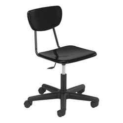 Mobile Teacher Task Chair in black