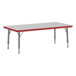 4000 Series Rectangle Adjustable-Height Floor Table