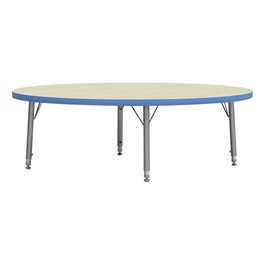 4000 Series Round Adjustable-Height Floor Table