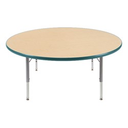 "Round Preschool Activity Table (48"" Diameter) - Forest Green edge band & swivel glides"