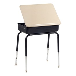751 Lift Lid School Desk - Solid Plastic Top