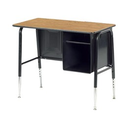 765 Series Jr. Executive Desk w/ Metal Book Box