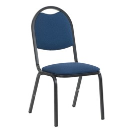 8917 Banquet Chair - Fabric Upholstered Seat - Sailor Sedona fabric w/ Black frame