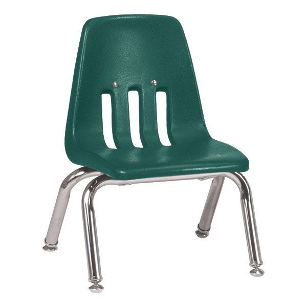 """9000 Series School Chair - 10"""" Seat Height - Forest Green"""