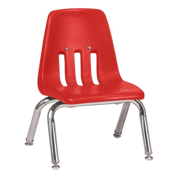 """9000 Series School Chair - 10"""" Seat Height - Red"""