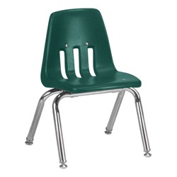 "9000 Series School Chair - 12"" Seat Height - Forest Green"