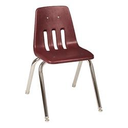 "9000 Series School Chair - 16"" Seat Height - Wine"