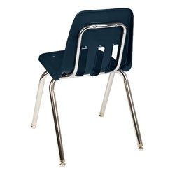 9000 Series School Chair - Navy, back view