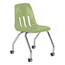 9050 Mobile Teacher Chair w/ Soft Plastic Seat & Back - Apple
