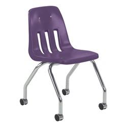 9050 Mobile Teacher Chair w/ Soft Plastic Seat & Back - Purple Iris