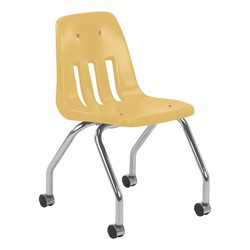 9050 Mobile Teacher Chair w/ Soft Plastic Seat & Back - Squash