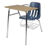 9400 Polypropylene Combo Desk w/ Bookrack - Shown w/ navy seat