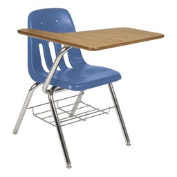 9700 Series Tablet Arm Desk - Blueberry