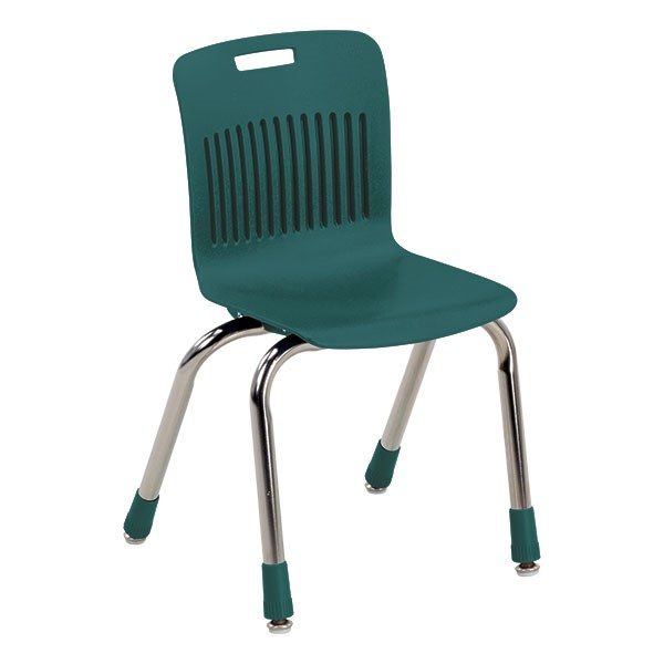 """Analogy Series Ergonomic School Chair (14"""" Seat Height) - Forest Green"""