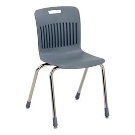 "Analogy Series Ergonomic School Chair (18\"" Seat Height) - Graphite"