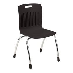 "Analogy Series Ergonomic School Chair (18"" Seat Height) - Black"