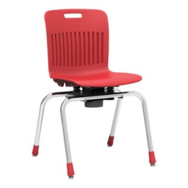 """Analogy Series Choose-to-Move School Chair (18\"""" H) - Red"""