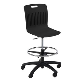 Analogy Series Mobile Lab Stool - Black