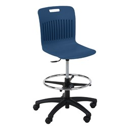 Analogy Series Mobile Lab Stool - Navy