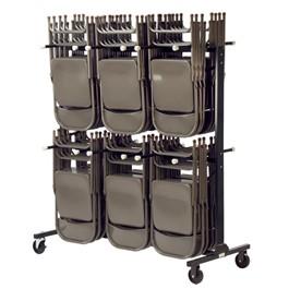 Double-Tier Chair Storage Rack