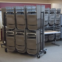 Double-Tier Chair Storage Rack