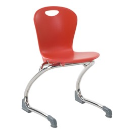 Zuma Cantilever School Chair - Red