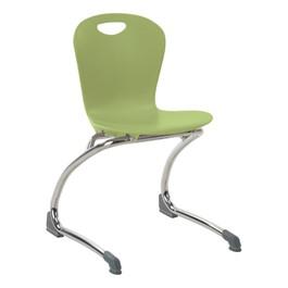 "Zuma Cantilever School Chair - 15\"" Seat Height - Apple"