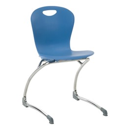 "Zuma Cantilever School Chair - 18"" Seat Height - Blueberry"