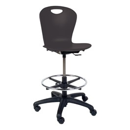 Zuma Mobile Lab Stool - Black