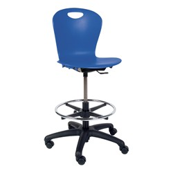 Zuma Mobile Lab Stool - Cobalt