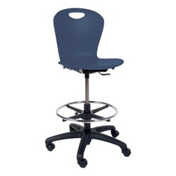 Zuma Mobile Lab Stool - Navy