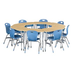 Zuma Trapezoid Group Learning Desk - For Octagonal Groupings - Plastic Book Box<BR>Desks sold separately.