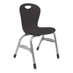 "Zuma Stack Chair (15"" Seat Height) - Black"